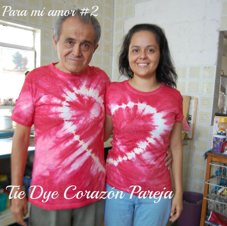 Para mi amor #2: Playera de Pareja Tie Dye Corazón