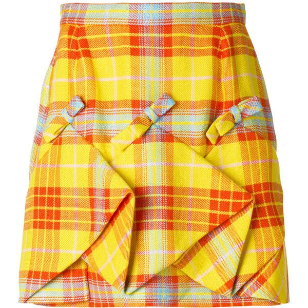 Delpozo plaid ruched skirt ($1,160) ❤ liked on Polyvore featuring skirts, bottoms, shirred skirt, plaid skirt, delpozo, ruched skirts and tartan skirt