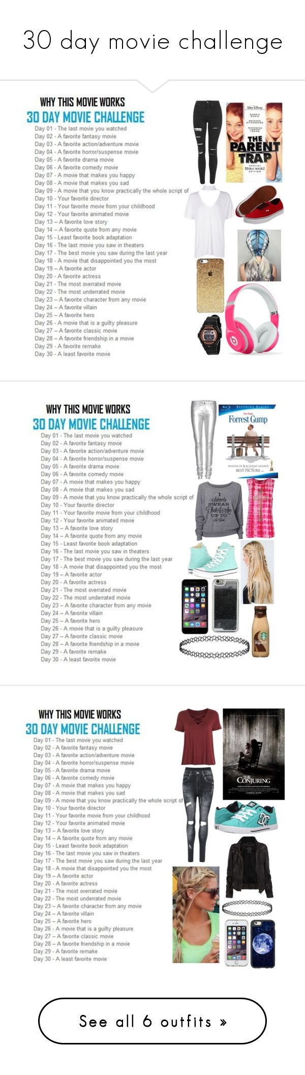 """30 day movie challenge"" by moon-and-back-babe123 ❤ liked on Polyvore featuring Topshop, Vans, Boohoo, Beats by Dr. Dre, Casio, Yves Saint Laurent, Converse, LMNT, WearAll and DC Shoes"