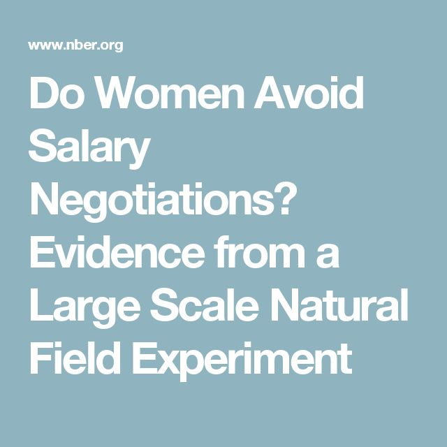 Do Women Avoid Salary Negotiations? Evidence from a Large Scale Natural Field Experiment