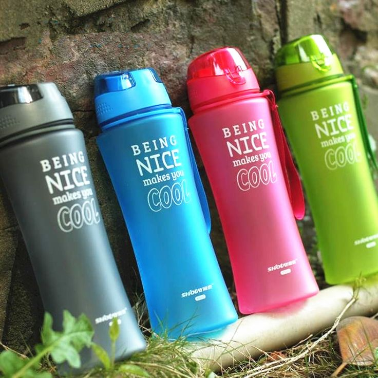 New Hot Sports Bounce Cover Water Bottles 480ml/650ml Healthy Plastic Cups Cycling Outdoor Travel Bottle My Water Bottle Shaker