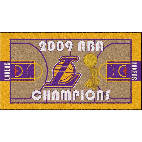 Fanmats Los Angeles Lakers 2009 NBA Finals Champions Court Runner