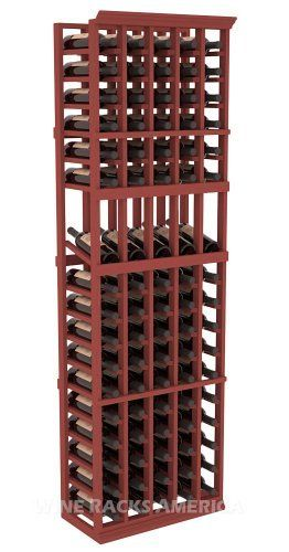 Five Star Series: 5 Column 85 Bottle Display Wine Cellar Rack in Pine with Cherry Stain by Wine Racks America®. $371.50. Choose From either Pine, Redwood, or Mahogany along with optional Industry Leading Quality Eco-Friendly Stains Paired with an Immaculate Satin Finish. Each have custom finishes and are professionally stained to order, so please allow a few additional days after your purchase for your order to be shipped.. Made from eco-friendly wood sources ...