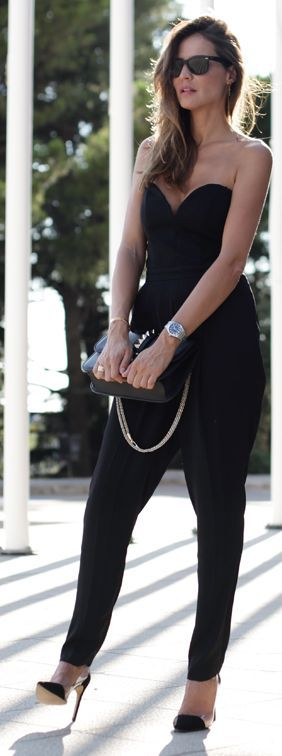 H&m Black Strapless Heart Shaped Jumpsuit by LadyAddict