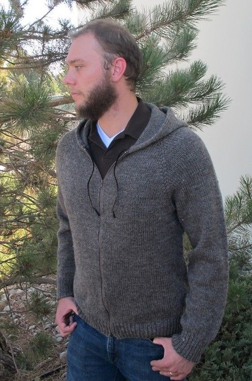 Knitting Pure and Simple--Diane Soucy--Zipper Hoodie for Men