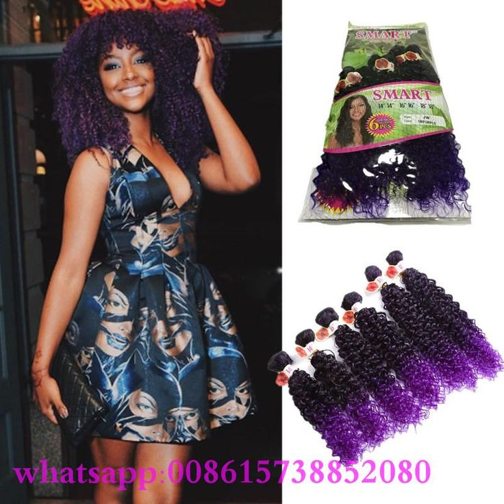 26 best synthetic hair extension set images on pinterest ombre brown marley braid hair kinky curlydeep wave peruvian curly 6 bundles hair weave africa synthetic hair extension pmusecretfo Choice Image