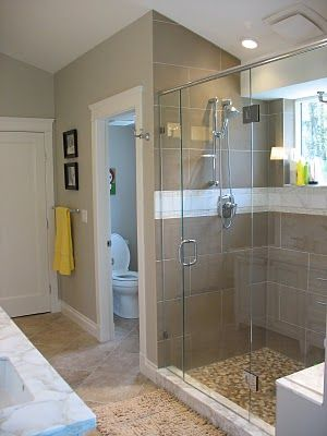 Shower under slanted roof & private toilet room