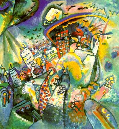 Moscou I (1916) de Kandinsky = tous les éléments mais plus aucune composition