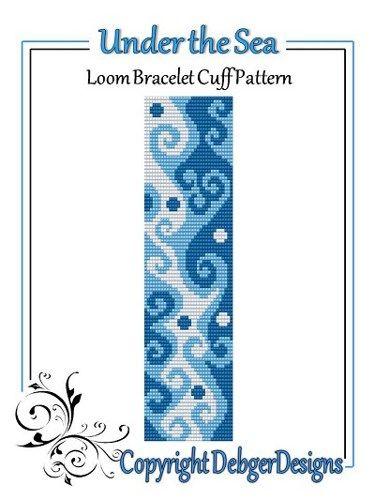 Under the Sea - Loom Bracelet Cuff Pattern | DebgerDesigns - Patterns on ArtFire