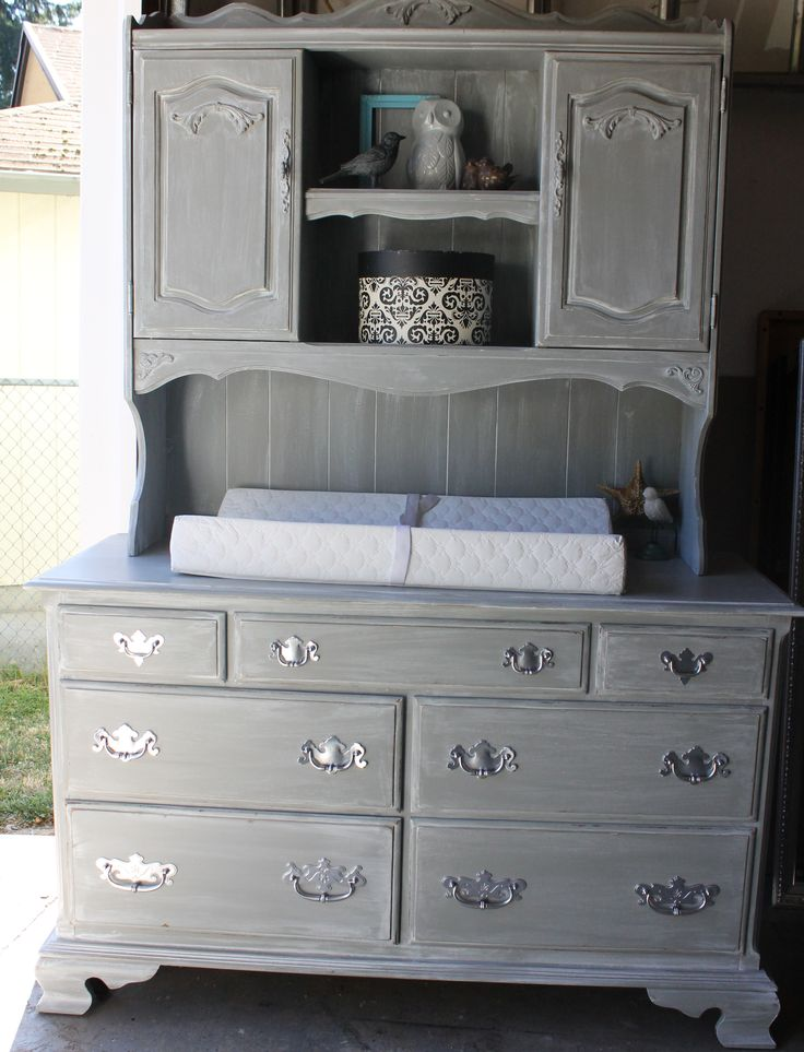 Vintage Ethan Allen Dresser Repurposed Into Weathered
