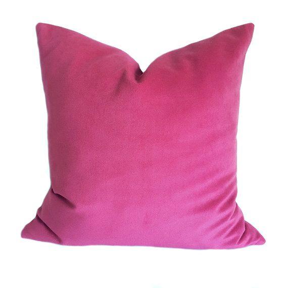 Pink Velvet Pillow Case Purple Velvet Throw by TheKingOfCushions