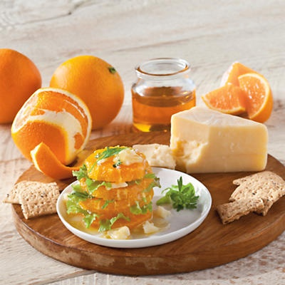 Navel Oranges and Beecher's Flagship Cheese - This unique appetizer is a great way to start any dinner party, whether it's a big occasion or not. Delightfully fresh, light and gourmet.