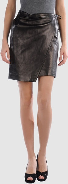 BALMAIN  Leather Skirts: great skirt, need different shoes.