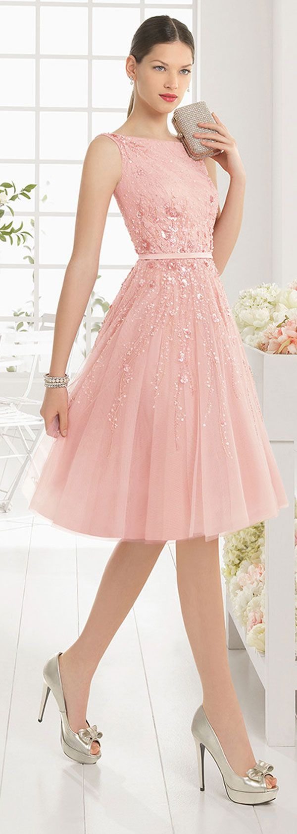 Pale pink dresses cocktail