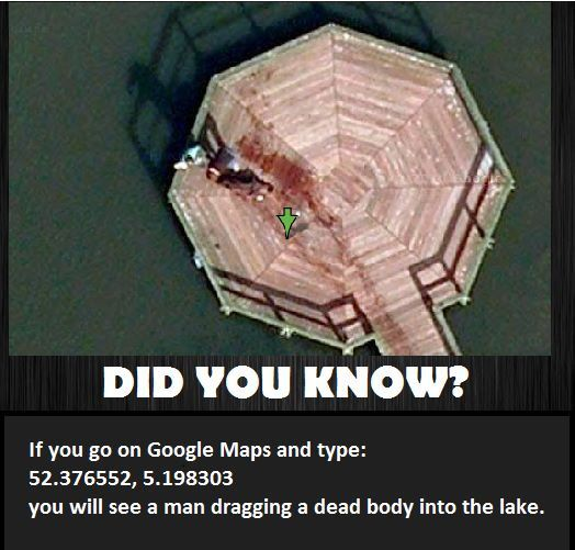 This is true. I looked up these coordinates and the exact same image was there. <--- OMG this is creepy.