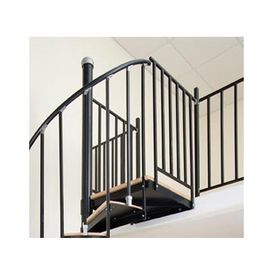 The Iron Shop Elk Grove 1.75 Ft Black Painted Wrought Iron Stair Railing Kit  Eb36br Nice Design