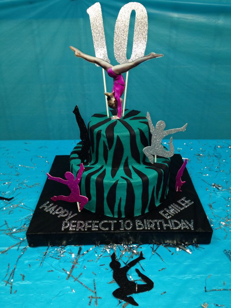 "Cake for my daughters ""Perfect 10.0 Gymnastics Birthday"""