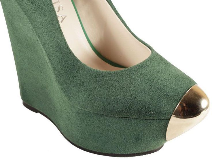 Женские зелёные туфли