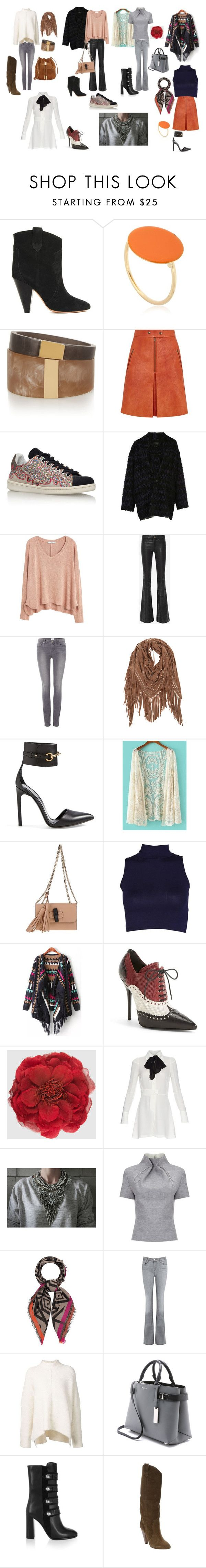 """bohem şık"" by eser-morgul on Polyvore featuring moda, Isabel Marant, MANGO, rag & bone, Paige Denim, Gucci, Maison Margiela, J. JS Lee, Fraas ve J Brand"