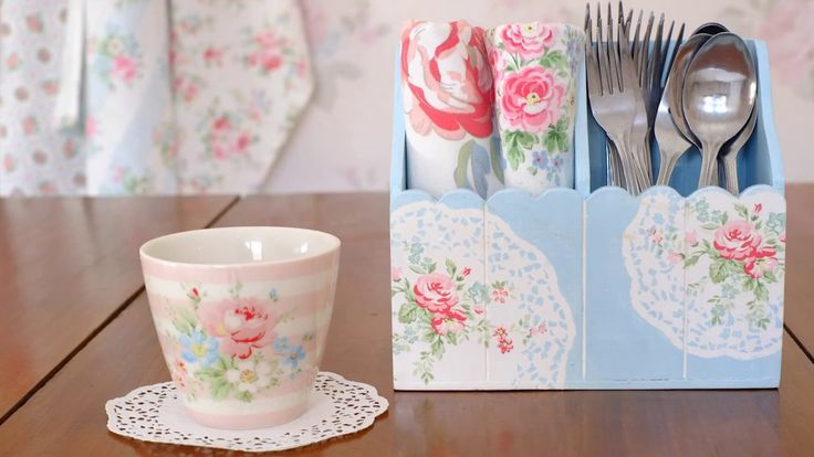 How to Decoupage with Doily Technique - SHABBYCHICINDONESIA