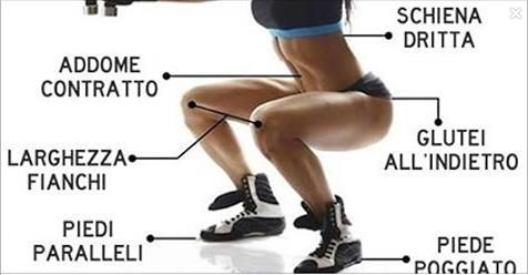 """I migliori esercizi per tonificare #gambe e #glutei sono gli """"#squat"""",esercizi mirati che lavorano su una grande quantità di fibre muscolari in tutto il corpo http://salutecobio.com/squat-esercizi-gambe-glutei"""