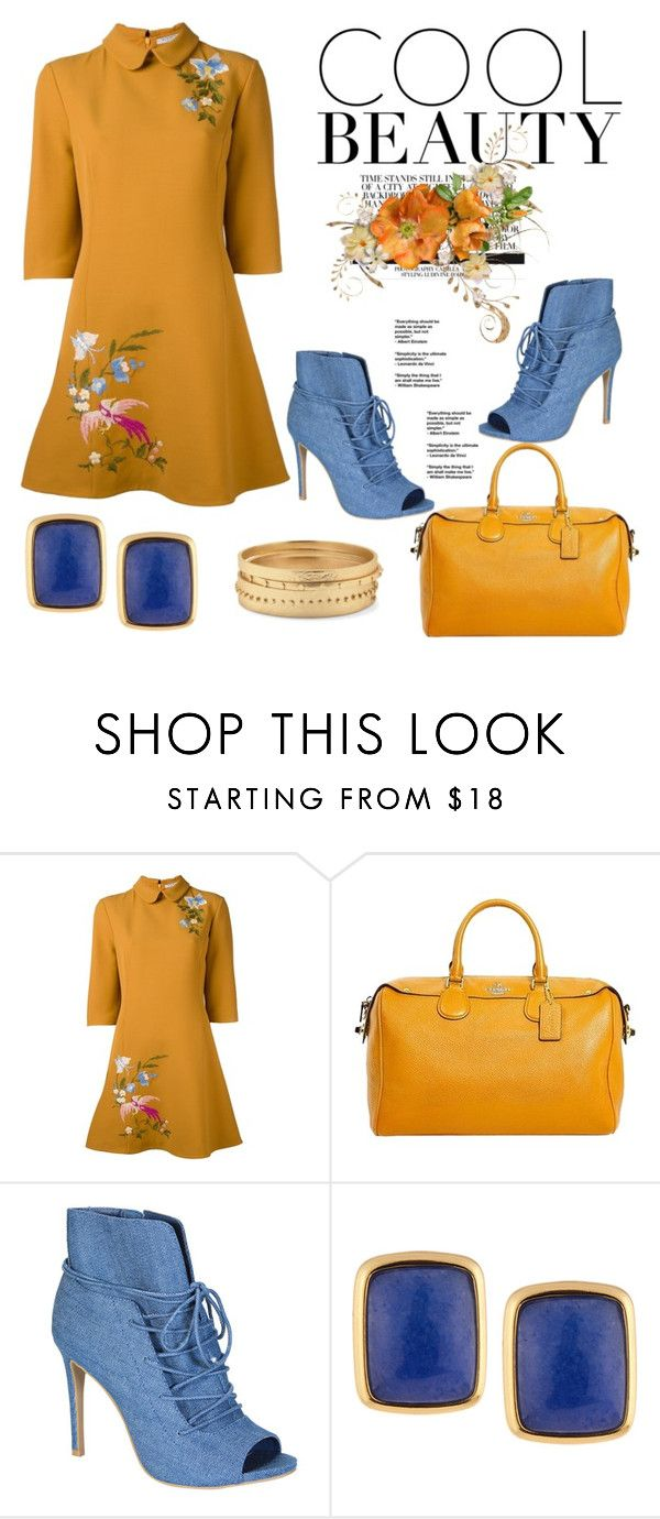 """""""Shift Dress"""" by hastypudding on Polyvore featuring VIVETTA, Coach, Bamboo, NAKAMOL, Chico's, trending, shiftdress, fashionset and AmiciMei"""