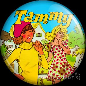 Tammy Annual - Badge/Magnet ~ www.powdermonki.co.uk.  You always got a badge with your annual.