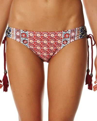 SURFSTITCH - WOMENS - SWIMWEAR - BIKINIS - TIGERLILY HAREM FLORAL MARILYN SEPARATE PANT - PAPRIKA