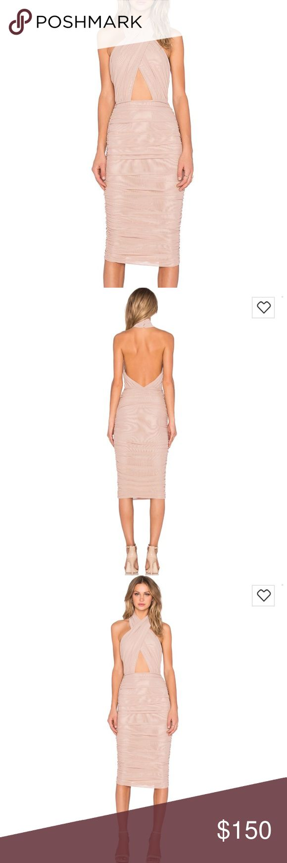 Misha Collection Nude Keziah Dress - Size 6 Gorgeous Misha Collection Keziah Dress in Nude. Size 6 - probably fits 4/6.  Shiny mesh material. Great condition - worn once. MISHA COLLECTION Dresses