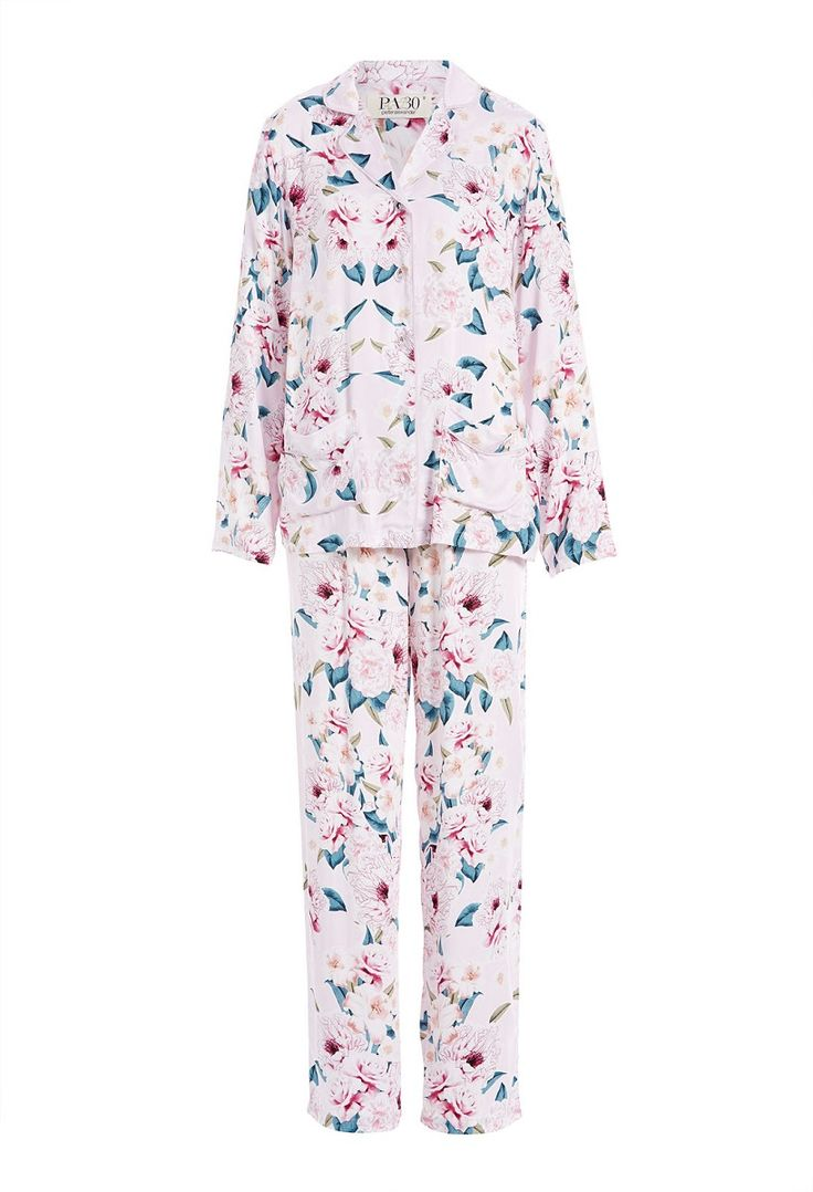 Mirror Floral Pj Set Select Colour: Multi Details Wake up in pretty florals in this women's Pj set. Crafted in a viscose fabric, set consists of a button up shirt & matching PJ pants feature an elasticised waistband & drawstring fastening. Set comes with matching fabric bag. Line Number: 814528 Fabric: 100% Viscose Fabric Type: WOVEN VISCOSE SATEEN