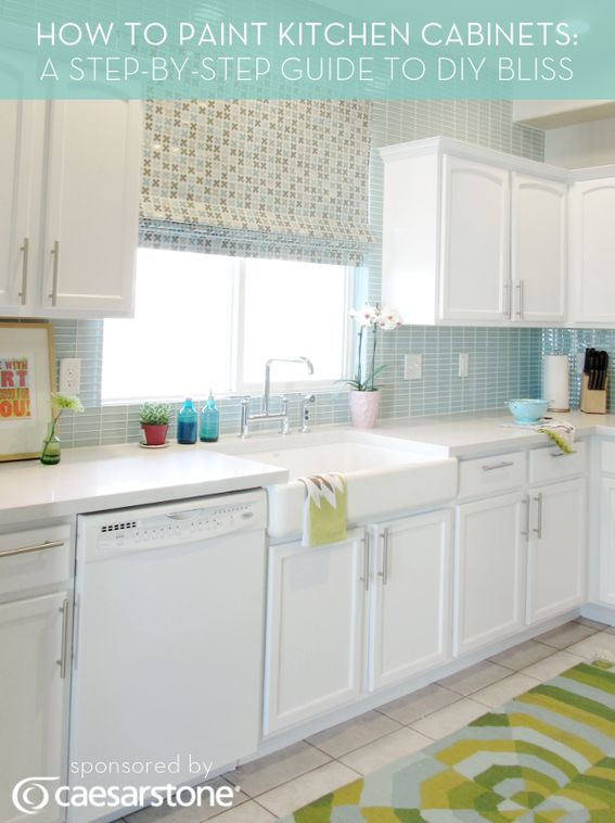 How to Paint Kitchen Cabinets: Kitchens, White Kitchen, Idea, How To Paint, Diy Bliss, Painting Kitchen Cabinets, Step By Step Guide, Paint Kitchen