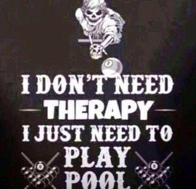 Awesome pool billiard quote saying BilliardFactory.com