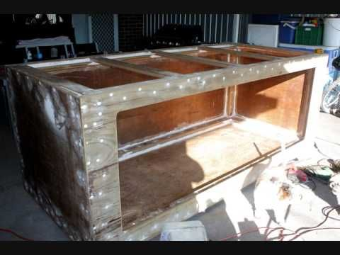 800 gallon plywood and fiberglass aquarium build from for 800 gallon fish tank