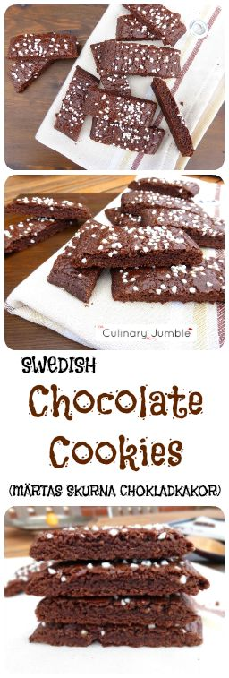 Sweden loves cookies and they don't come any simpler or tastier than these skurna chokladkakor!