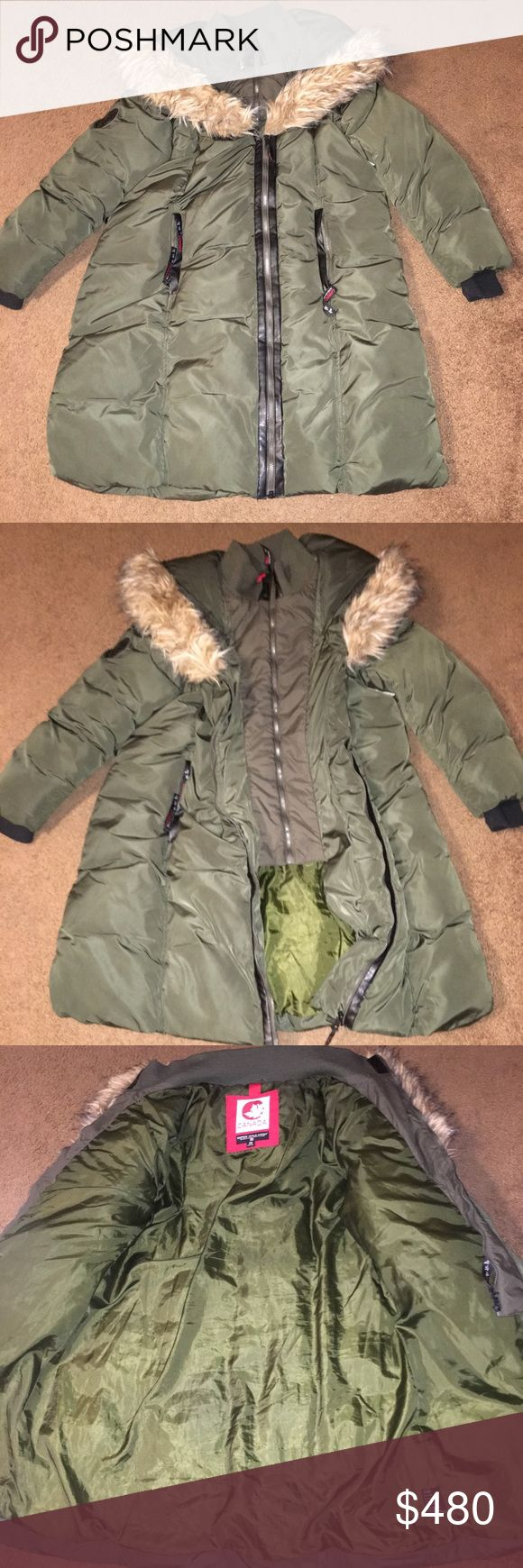 Canadian Goose Down Jacket Like New! Got as a gift and wish it fit! It has 2 separate zip up parts for extra warmth! Canada Goose Jackets & Coats