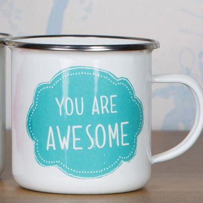 Check this out!! The Kitchen Gift Company have some great deals on Kitchen Gadgets & Gifts You Are Awesome Enamel Mug #kitchengiftco
