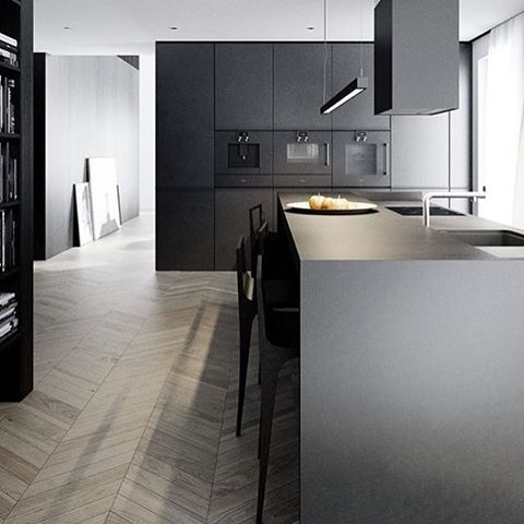 Ooh yes!  #kök #kitchen #inredning #inredningstips #interior #blackinterior #black #lovelyfloor #floor #perfectmatch #lägenhet #hus #villa