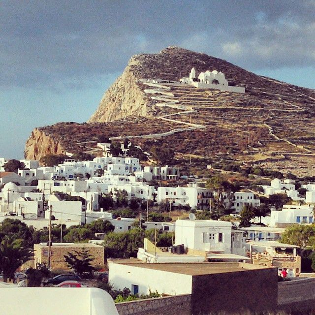 View of the most famous church in #Folegandros!  Photo credits: @christian8668668