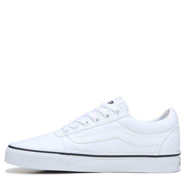 Vans Women's Ward Low Top Sneakers (White/White) - 11.0 M