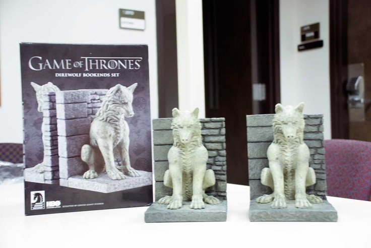Game Of Thrones Direwolf Bookends Set Texas A M