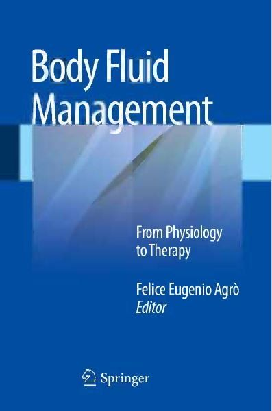 Body Fluid Management from Physiology to Therapy - 1st edition --- mebooksfree.com