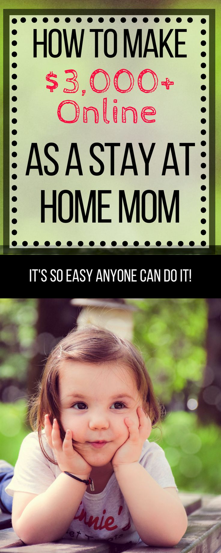 Ways To Earn Money From Home in 2018. How to make money as a stay at home mom! #SAHM #makemoneyonline #SAHMjobs