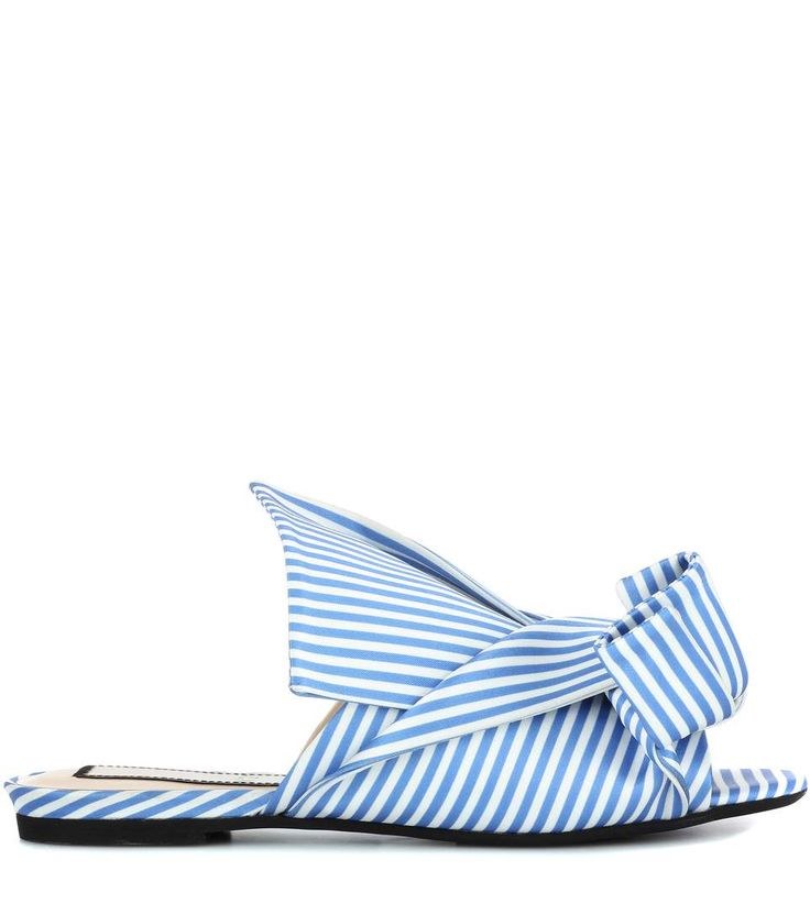 N°21 Blue and white striped slip-on sandals
