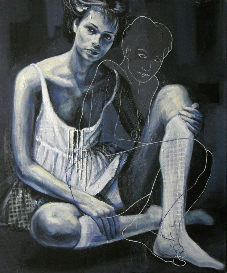 mary, cm. 50x60  ,oil and acrilic on canvas