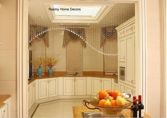 Rasmy Home Decors Arch Partition Open Kitchen Decoration Glass Etsy Home Decor Beaded Door Curtains Beaded Curtains