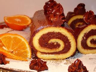 receptyywett: Roláda s kakaovou plnkou