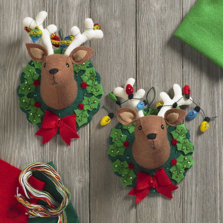 Bucilla seasonal felt home decor jingle and belle for Seasonal decorations home