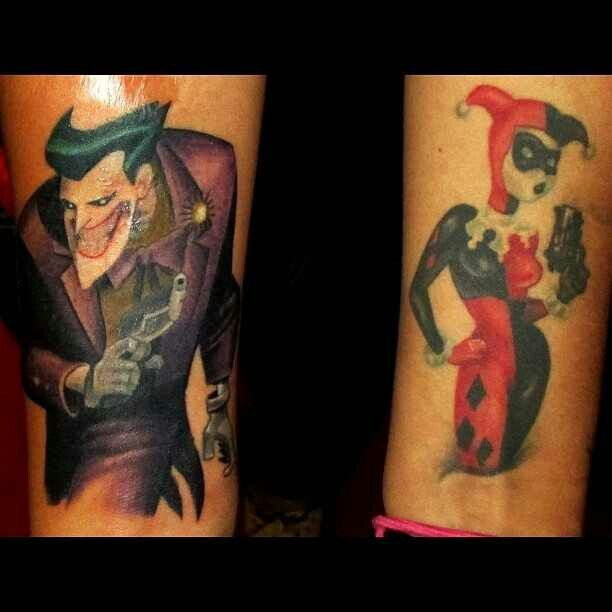 Matching Joker And Harley Tattoo: 22 Best Images About Tattoo's On Pinterest