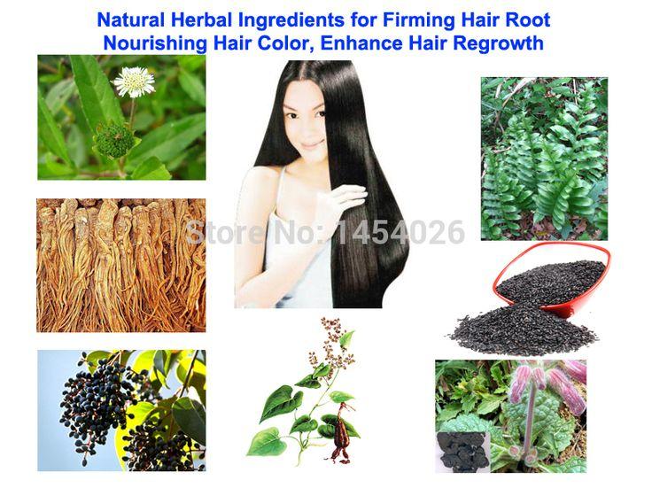 Natürliche Pflanzliche Inhaltsstoffe für Straffende Haarwurzel, pflegende Haar Farbe, verbessern Haarwachstum