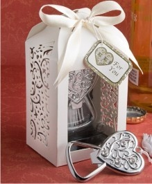 Beautiful quince favors with heart theme!